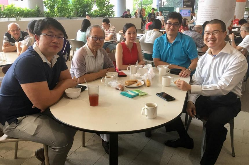 Dr Tan Cheng Bock (second, left), a six-term MP who retired from politics in 2006, applied to register the Progress Singapore Party on Jan 16 this year.