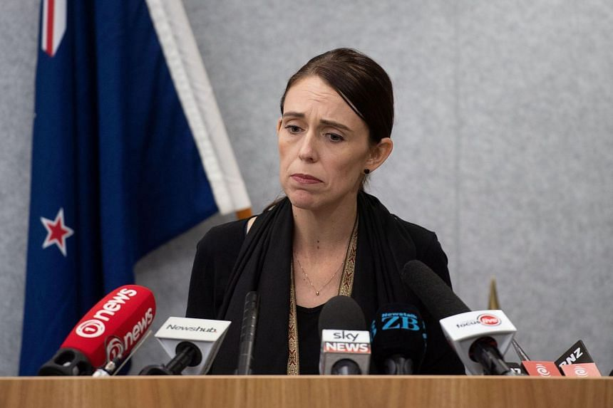 New Zealand PM Jacinda Ardern speaks to the media during a press conference at the Justice Precinct in Christchurch, on March 16, 2019.