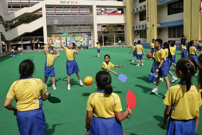 In early 2018, Punggol Primary School extended its recess time by 15 minutes twice a week for Primary 3 and 4 pupils so that they have more time for unstructured play.