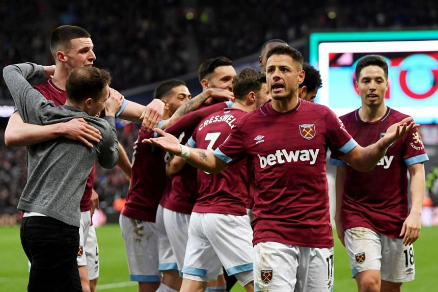 2d9bd80c569 Football  West Ham leave it late to see off spirited Huddersfield ...