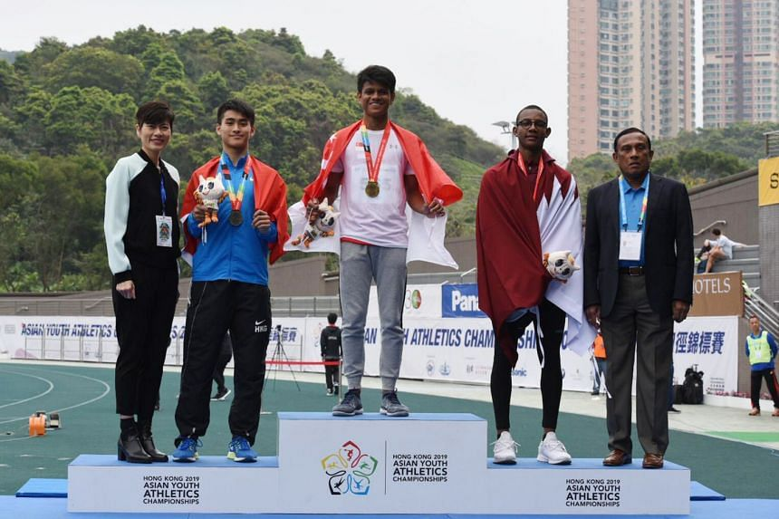Marc Brian Louis won the 400m hurdles at the the Asian Youth Athletics Championships in Hong Kong on March 17. It was Singapore's only gold medal at the meet.