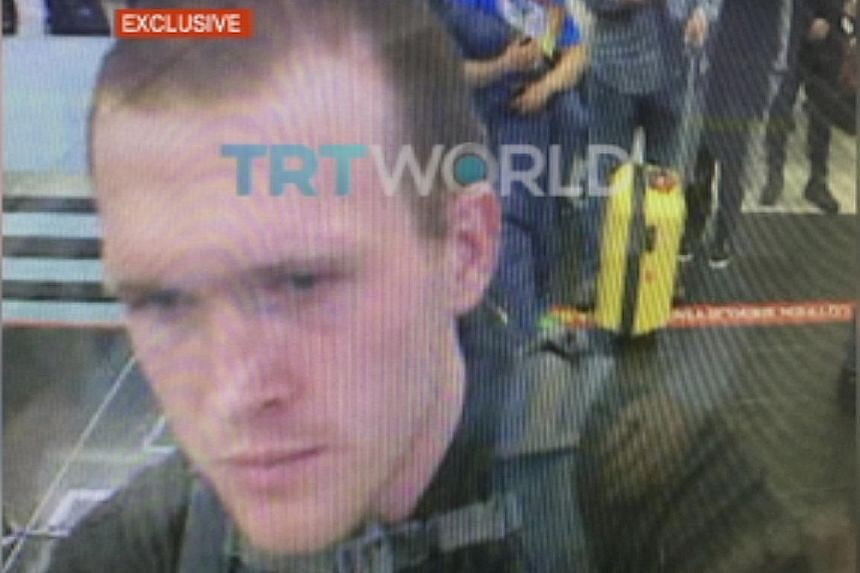 A still image taken from a March 17, 2016 video and obtained from TRT World last Friday shows New Zealand attack suspect, Australian Brenton Tarrant, at Ataturk International airport in Istanbul.