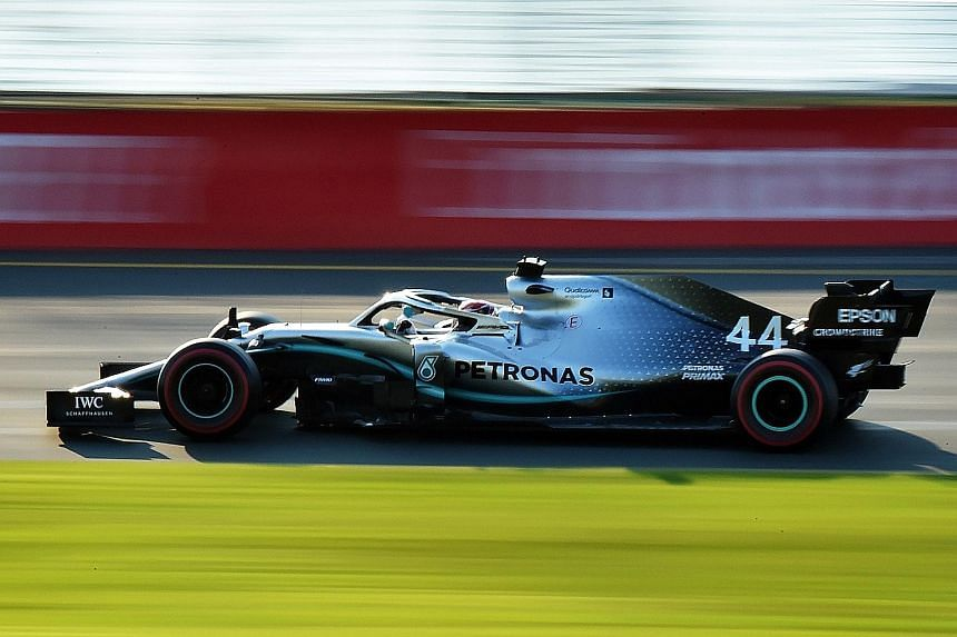 Mercedes driver Lewis Hamilton had played second fiddle to the Ferraris during pre-season testing in Barcelona, but at the Australian Grand Prix qualifying yesterday, he was back to his domineering self.