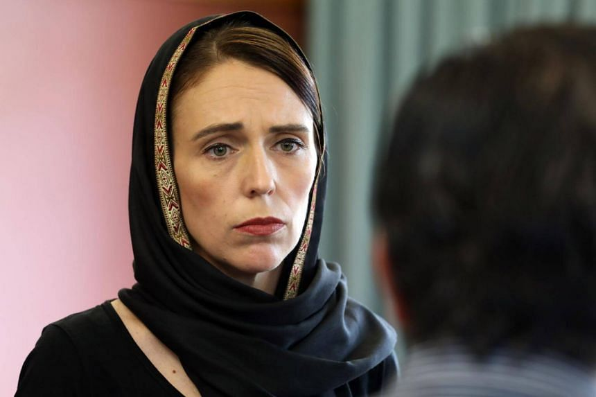 New Zealand Prime Minister Jacinda Ardern meeting with the representatives of the refugee centre during a visit to the Canterbury Refugee Centre in Christchurch, on March 16, 2019.