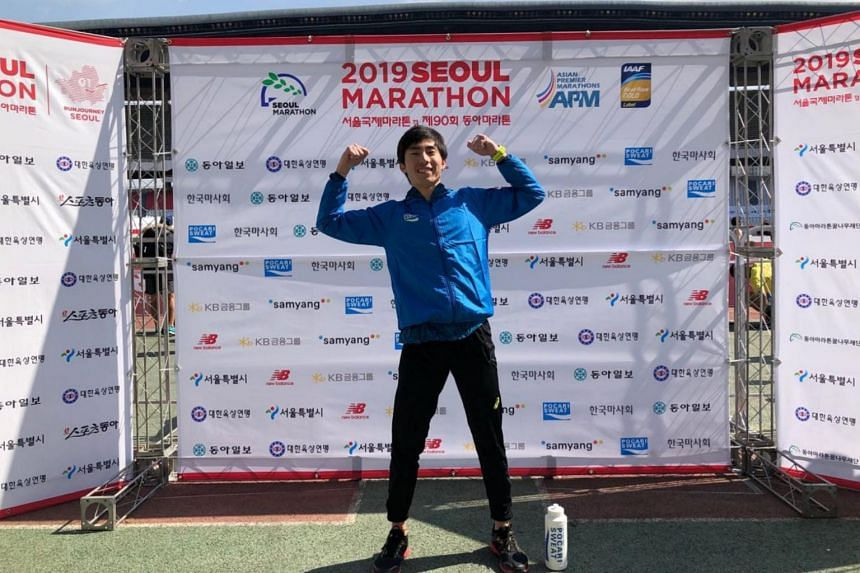 Two-time SEA Games marathon champion Soh Rui Yong's personal best before Seoul was 2:24:55, set at the 2016 Chicago Marathon.