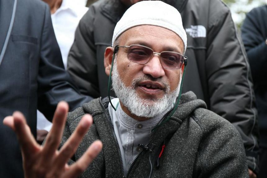 Mr Farid Ahmed, whose wife Husna was killed in the attacks on the mosques in Christchurch, speaking to the media on March 17, 2019.
