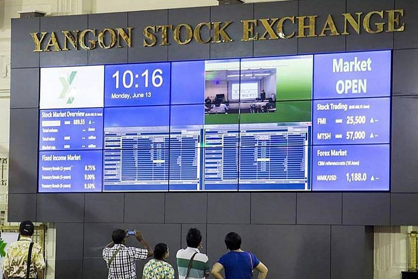 The Yangon Stock Exchange is Asia's tiniest bourse. It has only five companies and updates prices just four times a day. It is set to open to foreign investors some time this year, the last in the region to do so.