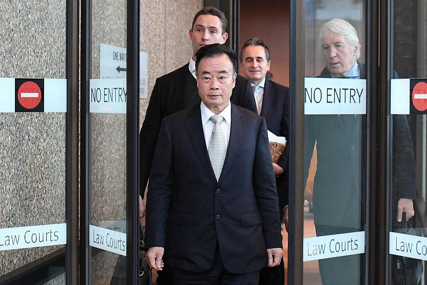 Businessman Chau Chak Wing leaving the New South Wales Federal Court in Sydney last year. The court recently awarded about $270,000 to the Chinese-Australian businessman after finding that a 2015 Sydney Morning Herald article about him was defamatory