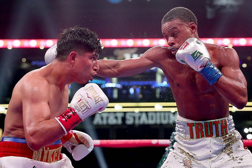 "After losing the bout on Saturday, Mikey Garcia (left) declared Errol Spence Jr as ""the truth""."