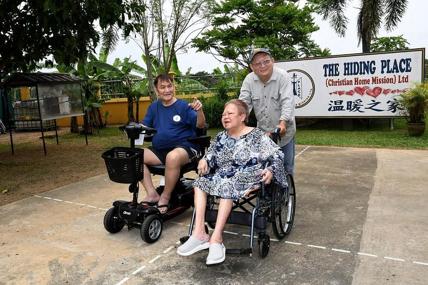 The Hiding Place co-founders, Pastor Philip Chan and his wife Christina, both have health issues. When he dies, Pastor Chan wants the reins to be handed over to home director Tan Hock Seng, seen here with the couple.