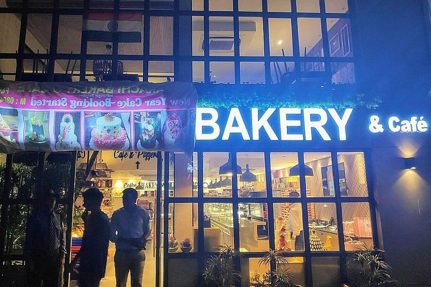 An outlet of the much-loved Karachi Bakery in India was forced to cover up the first half of its name to pacify protesters who had gathered outside the store on Feb 22 to demand that the signboard with the firm's name, which it shares with a Pakistan