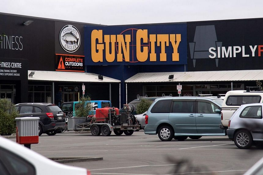 The Gun City store on the outskirts of Christchurch on March 18, 2019.