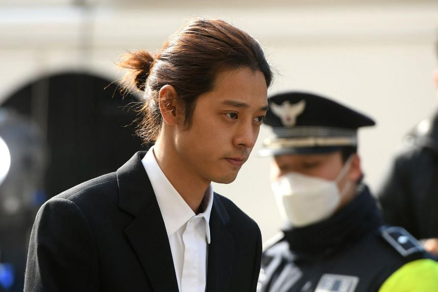 Jung Joon-young, who had been booked on charges of filming and sharing sex