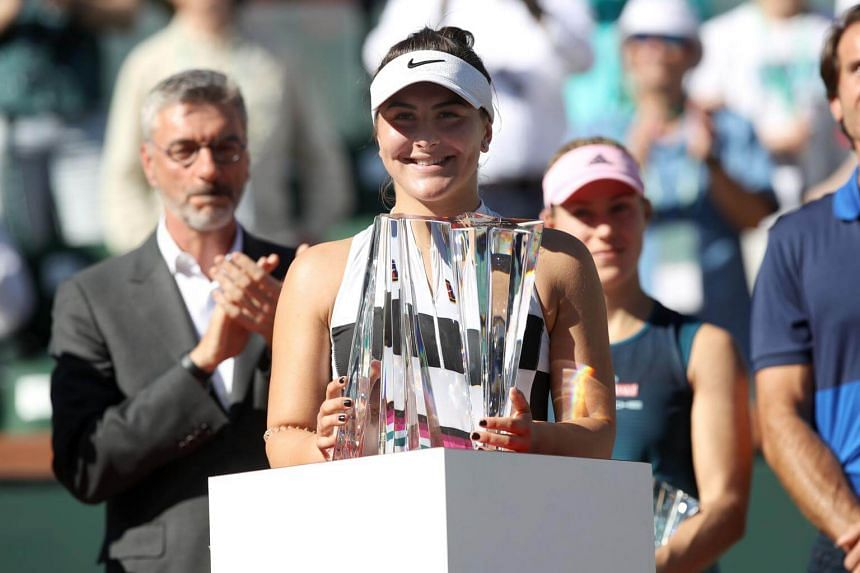 Teen Andreescu Shocks Kerber At Indian Wells For First WTA Title