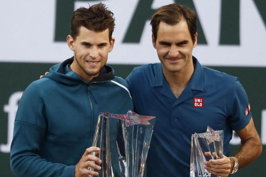 Dominic Thiem rallied for a third career win over Roger Federer in five meetings, his first over the Swiss on hard courts.