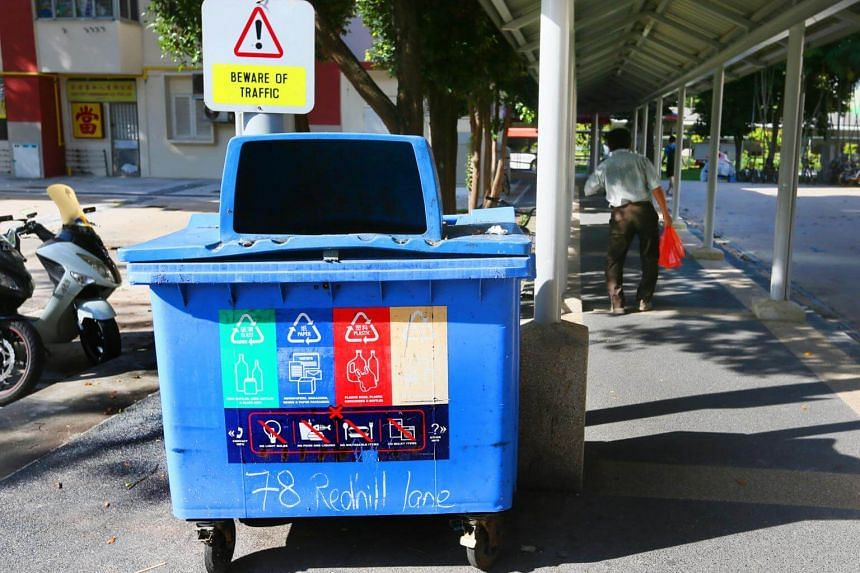 This scheme is commendable as it makes recycling much less of a hassle than in the older estates, where people have to take their recyclables to a bin on the ground floor.
