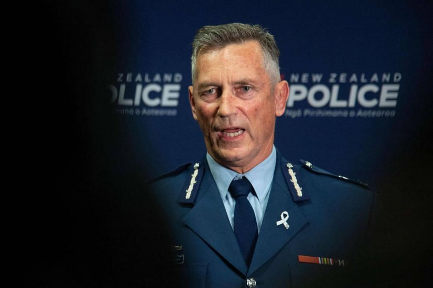 New Zealand Police Commissioner Mike Bush speaking to the media after the Christchurch attacks, at the Royal Society building in Wellington, on March 15, 2019.