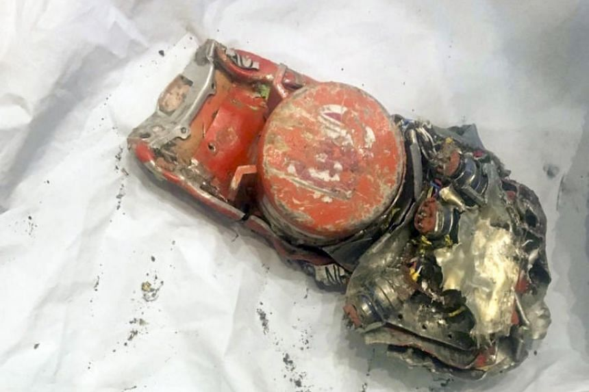 One of two black box recorders of the Ethiopian Airlines 737 Max that crashed outside Addis Ababa last week, in le Bourget, France, on March 14, 2019.