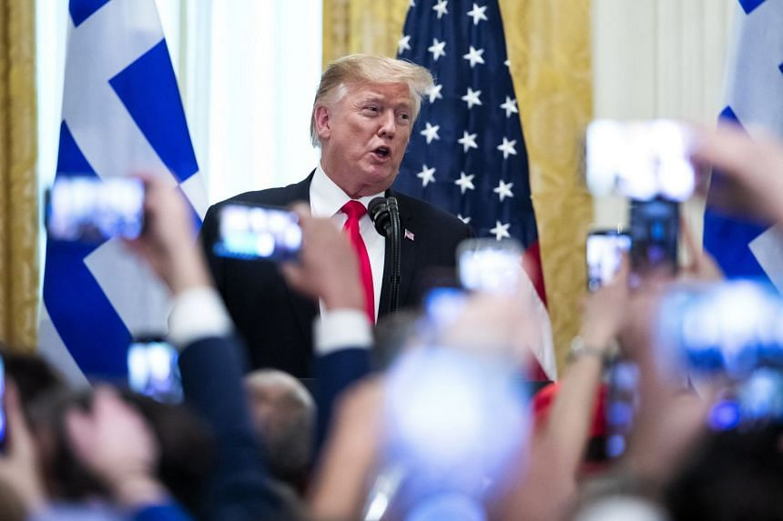 Trump attends a Greek Independence Day celebration at the White House.