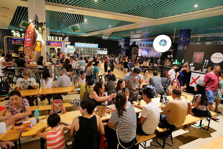 The crowd at Beerfest Asia at Marina Bay Cruise Centre on Aug 20, 2017.