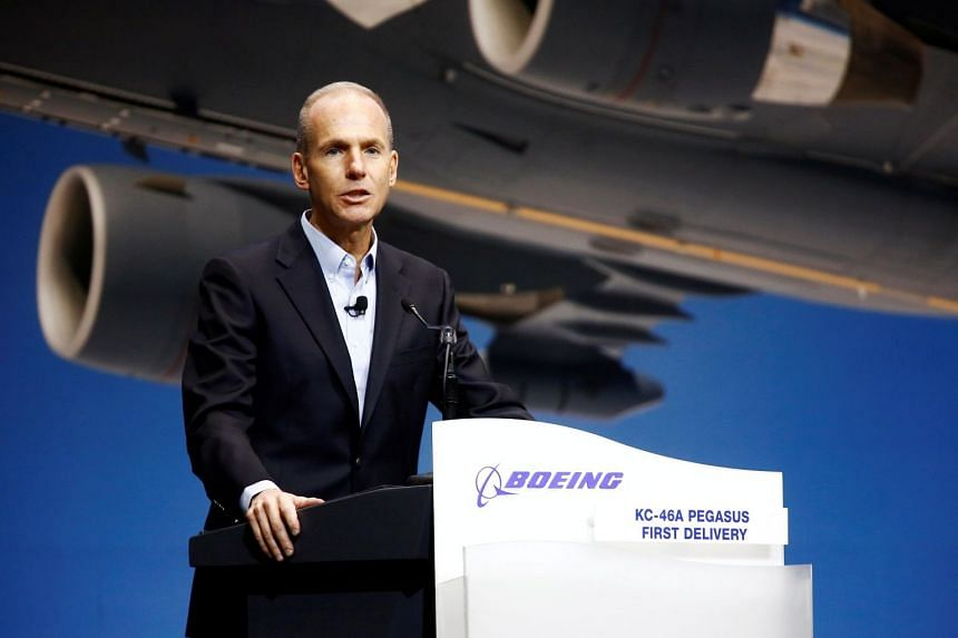 """Boeing Co Chief Executive Dennis Muilenburg also said a software upgrade for the 737 Max aircraft that the planemaker started in the wake of October's deadly Lion Air crash in Indonesia was coming """"soon""""."""