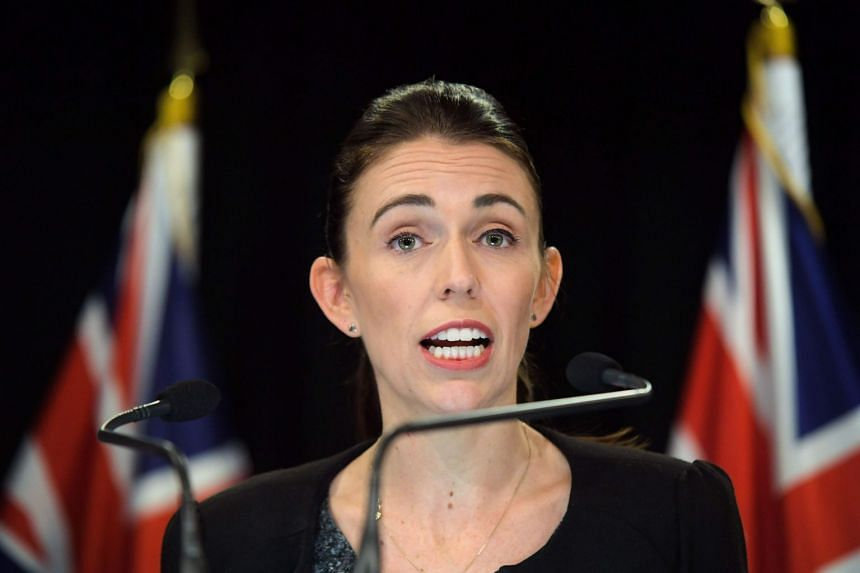 New Zealand Prime Minister Jacinda Ardern speaks to the media during a Post Cabinet press conference at Parliament in Wellington, on March 18, 2019.