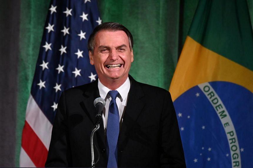 """The American people have always been an inspiration for me,"" said Brazilian President Jair Bolsonaro."