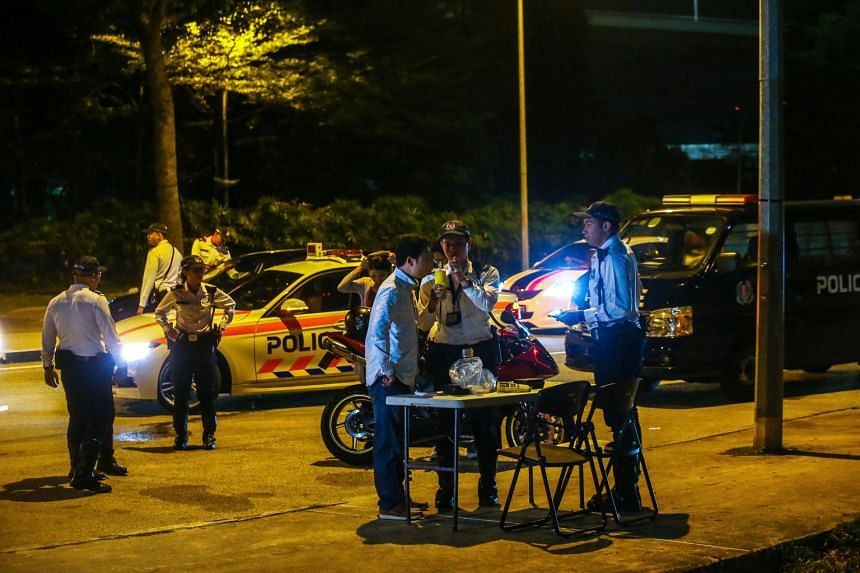 Traffic Police conducting an anti-drink driving operation in Republic Boulevard. Industry players say it is not unusual for victims to make large medical claims to offset the property damage caused by drink drivers.