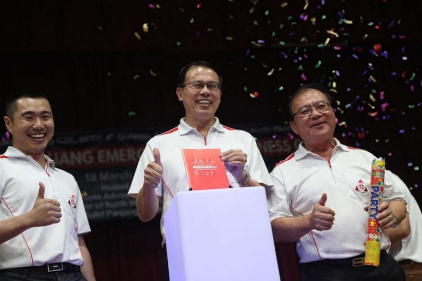 Bukit Panjang MP Teo Ho Pin, who came up with the idea of a guide two years ago, launched the Bukit Panjang Emergency Preparedness Guide on March 19, 2019.