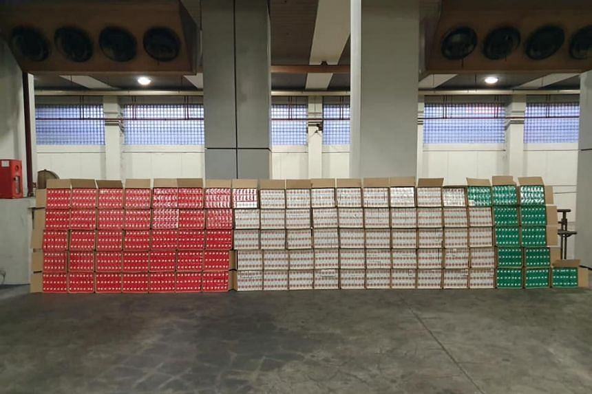 2,016 cartons of duty-unpaid cigarettes were found in a Malaysia-registered lorry on March 18, 2019.