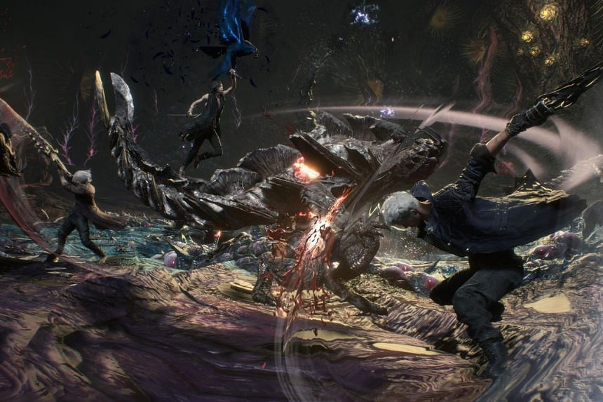 Devil May Cry 5 features three playable characters: returning protagonists Nero and Dante, and a mysterious new entrant, V.
