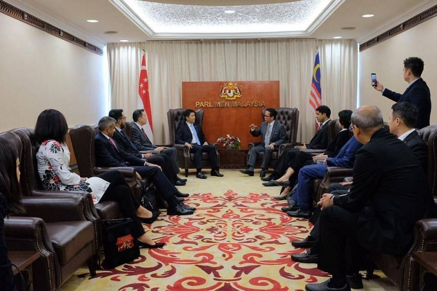 Singapore's Speaker of Parliament Tan Chuan-Jin and his delegation called upon the Minister in the Prime Minister's Department Liew Vui Keong (pictured) and also visited Malaysia's Lower House of Parliament on March 19, 2019.