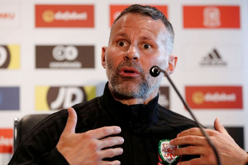 Wales manager Ryan Giggs during the press conference.