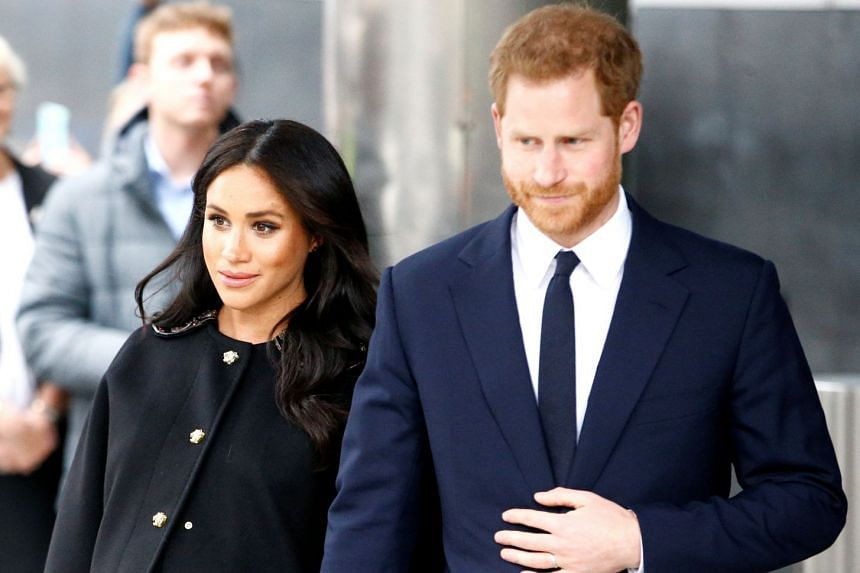 Harry and Meghan visit New Zealand House to sign the book of condolence on behalf of the Royal Family.