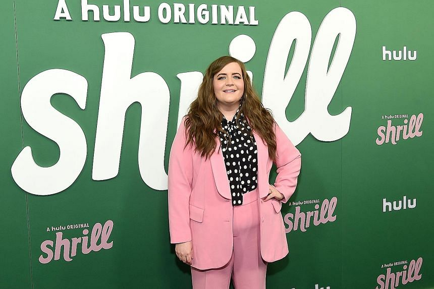 Aidy Bryant plays Annie, who is constantly reminded of her obesity, in new Hulu series Shrill.