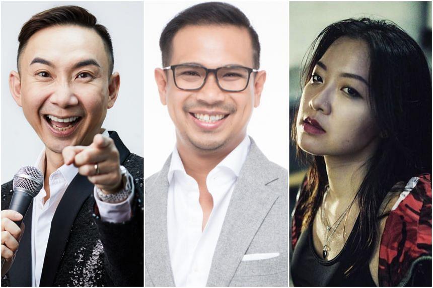(From left) Actor-host Hossan Leong, senior presenter on Money FM 89.3 Elliott Danker and Singaporean rapper Jamie Lau are die-hard fans of Friends.