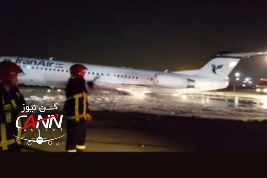 An image of the plane uploaded to social media.