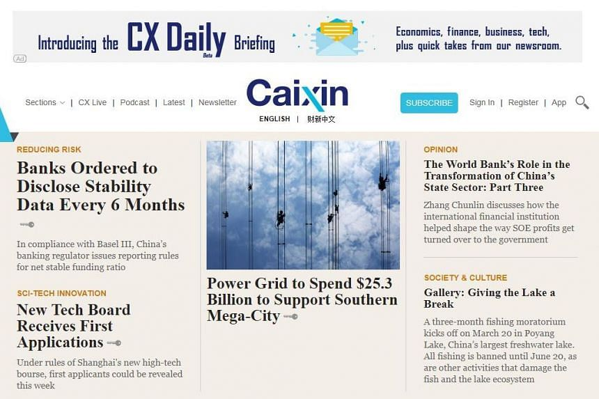 The agreement will see ST and Caixin Global sharing 10 articles each per month for their readers, via their print and digital platforms.