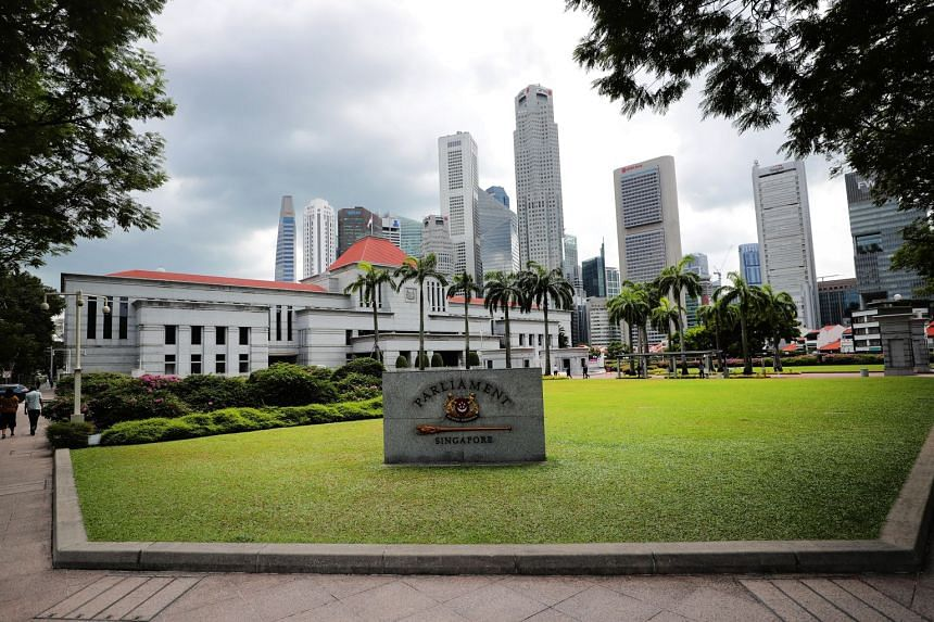 Singapore's Parliament House in the civic district seen in a photo taken on Jan 16, 2019.