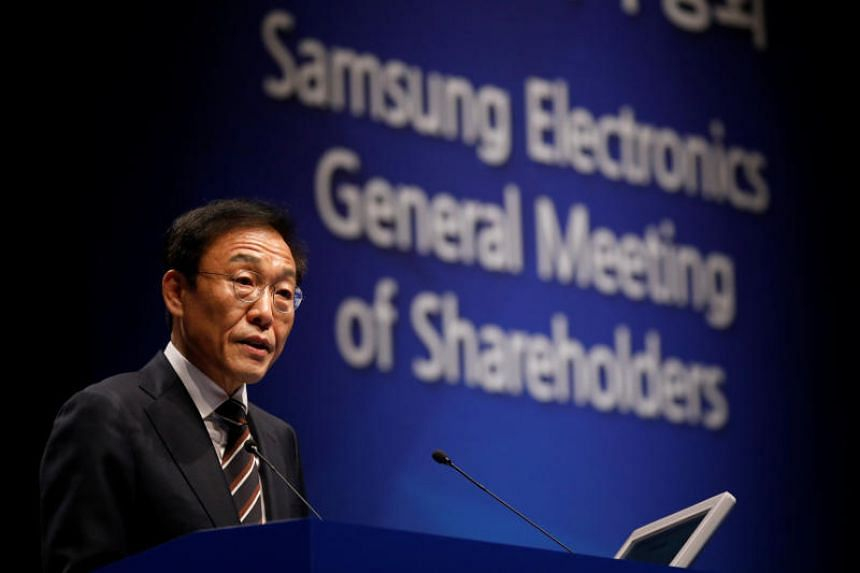 Kim Ki-nam, Samsung's president and co-chief executive officer, said the tech company is expecting many difficulties this year such as slowing growth in major economies and risks over global trade conflicts.