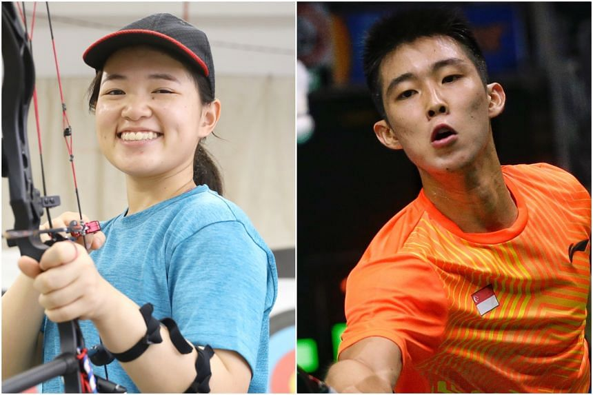 Archer Contessa Loh and shuttler Loh Kean Yew were among athletes who received the Sports Excellence Scholarship on March 20, 2019.