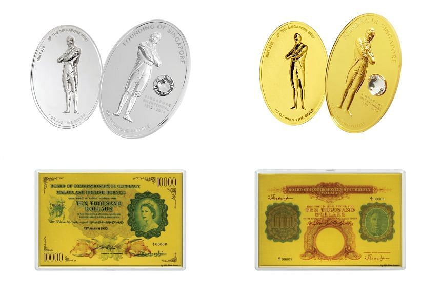 The commemorative objects can be bought at Singapore Mint's booth at the coin fair at Marina Bay Sands Expo and Convention Centre from March 22 to 24, 2019.