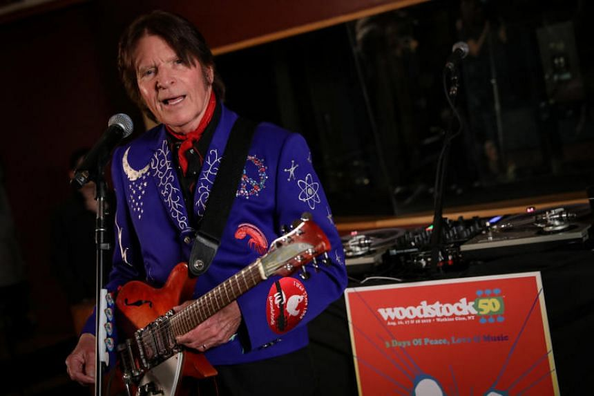 Singer John Fogerty performs during the announcement event for the lineup of the Woodstock 50th Anniversary concert in New York on March 19, 2019.