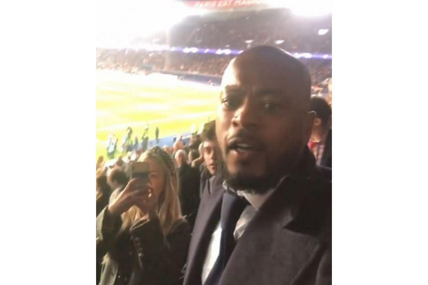 Tensions began to mount between Paris Saint-Germain and Patrice Evra when the former United defender posted a video on Instagram celebrating the Premier League side's stunning 3-1 away win in the Champions League.