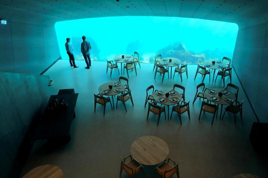The restaurant was designed by Norwegian architecture firm Snoehetta, which also created the Opera house in Oslo and the National September 11 Memorial Museum in New York.