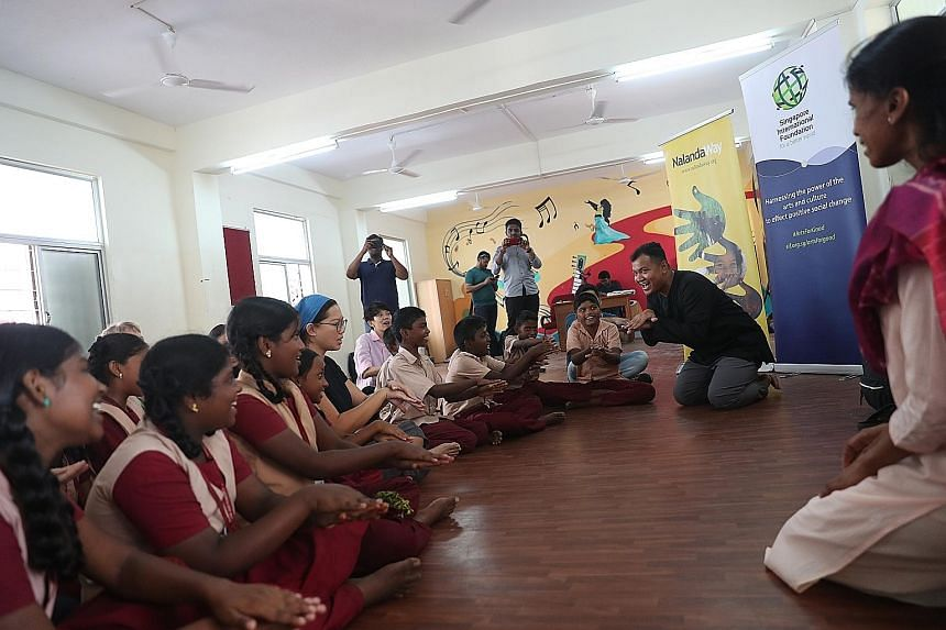 The Arts for Good Fellowship programme in Chennai brought together 30 artists, art administrators and programmers from all over the world, and aimed to spread cheer among underprivileged students.