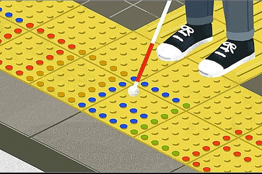 On Monday, Google's homepage featured an animation in honour of Mr Seiichi Miyake, who came up with tactile paving in Japan in 1965. The innovation is now helping the blind navigate through public spaces in cities around the world.
