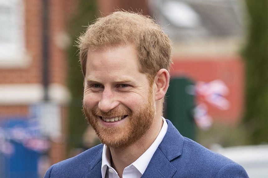 Britain's Prince Harry arriving for a visit to a primary school in Central London, Britain, on March 20, 2019.