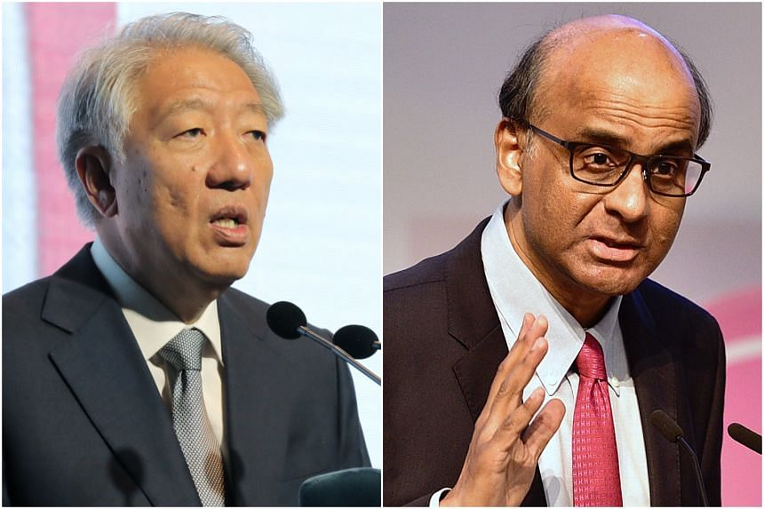 Singapore's two deputy prime ministers, Teo Chee Hean (left) and Tharman Shanmugaratnam, will be visiting Vietnam and China respectively.