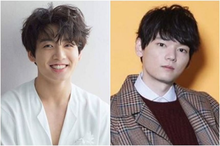 BTS singer Jungkook (left) and Japanese actor Yuki Furukawa are in second and third spots on the men's list.